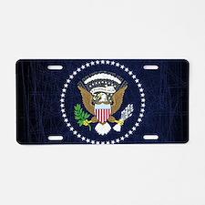 President Seal Eagle Aluminum License Plate