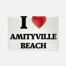 I love Amityville Beach New York Magnets