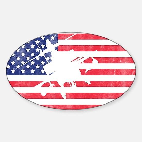 American Flag Apache T-shirt Decal