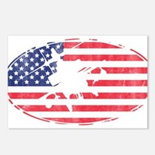 American Flag Apache T-sh Postcards (Package of 8)