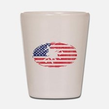 American Flag Apache T-shirt Shot Glass