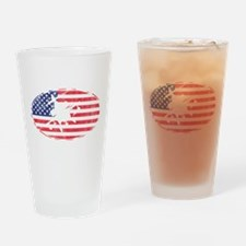 American Flag Apache T-shirt Drinking Glass