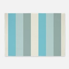 Beach Palette Stripe 5'x7'Area Rug