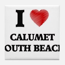 I love Calumet South Beach Illinois Tile Coaster