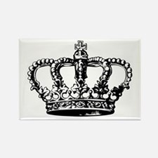 Black Crown Rectangle Magnet