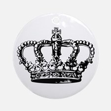 Black Crown Ornament (Round)
