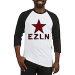Flag_of_the_EZLNtextbelow Baseball Jersey