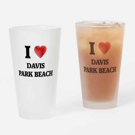 I love Davis Park Beach New York Drinking Glass