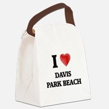 I love Davis Park Beach New York Canvas Lunch Bag