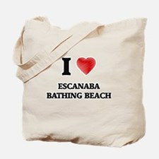 I love Escanaba Bathing Beach Michigan Tote Bag