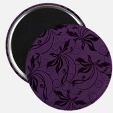 Deep Purple Black Swirl Magnets