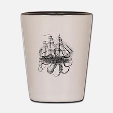 Cute Pirate ships Shot Glass