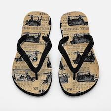 Unique Cow Flip Flops