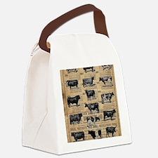 Unique Cow Canvas Lunch Bag