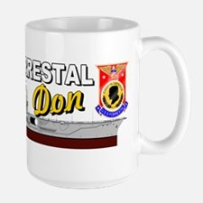 Uss Forrestal Cv-59 Don Large Mugs
