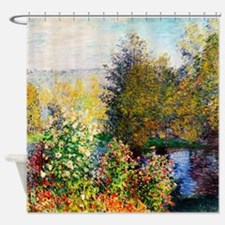 Monet_Claude-Garden_at_Montgeron Shower Curtain