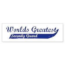 Greatest Security Guard Bumper Bumper Sticker