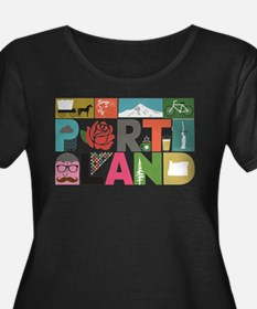 Unique Portland - Block by Block Plus Size T-Shirt