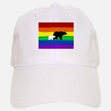 Bear gay rainbow art Baseball Baseball Cap