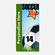 Soccer Custom Beach Towel