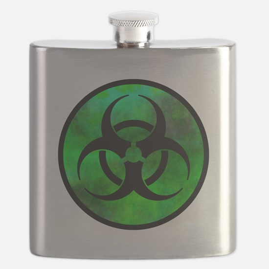 Green Fog Biohazard Symbol Flask