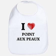 I love Point Aux Peaux Michigan Bib