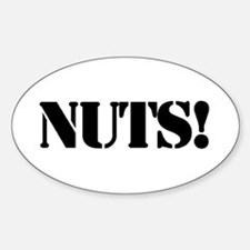 nuts Oval Decal