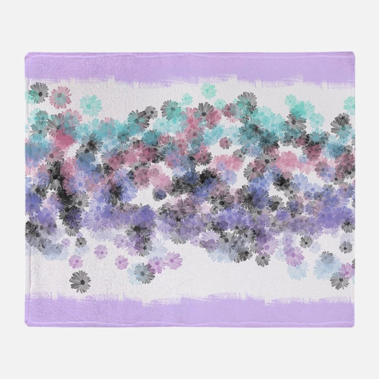 Watercolor Dandelions (Pink) Throw Blanket