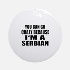 Serbian Designs Round Ornament