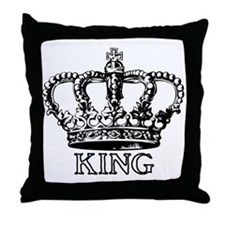 King Crown Throw Pillow
