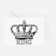 King Crown Greeting Card