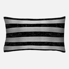 STR2 BK MARBLE SILVER Pillow Case