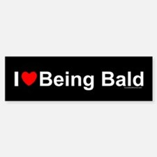 Being Bald Sticker (Bumper)