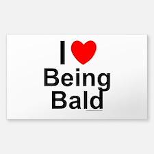 Being Bald Sticker (Rectangle)