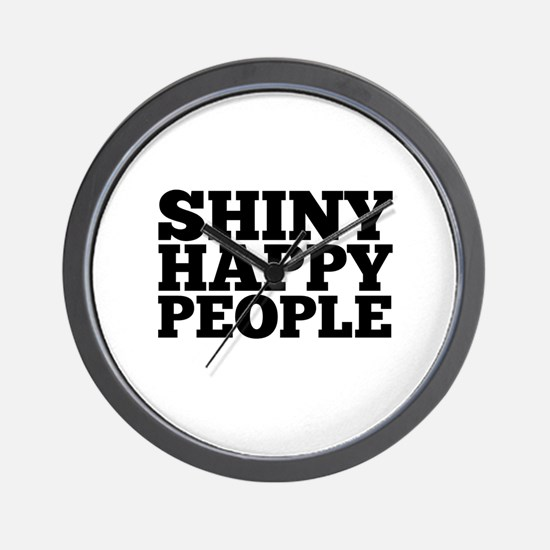Shiny Happy People Wall Clock