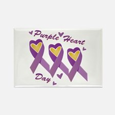 Purple Heart Day Magnets