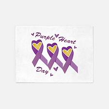 Purple Heart Day 5'x7'Area Rug