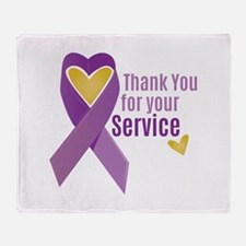 For Service Throw Blanket