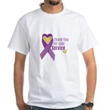 Military purple heart Mens White T-shirts