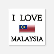 I Love Malaysia Rectangle Sticker