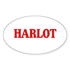 Harlot Oval Decal