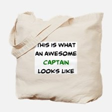 awesome captain Tote Bag