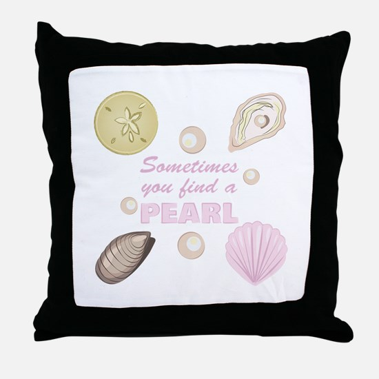A Pearl Throw Pillow