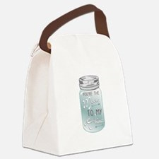 Moon Shine Canvas Lunch Bag