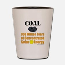 Coal Concentrated Solar Shot Glass