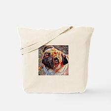 Pug: A Portrait in Oil Tote Bag