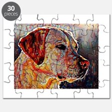 Yellow Lab: A Portrait in Oil Puzzle