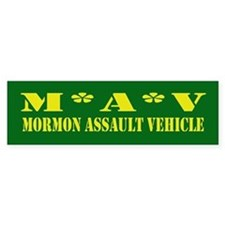 Mormon Assault Bumper Bumper Sticker