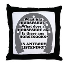 What is a Horseshoe? Throw Pillow