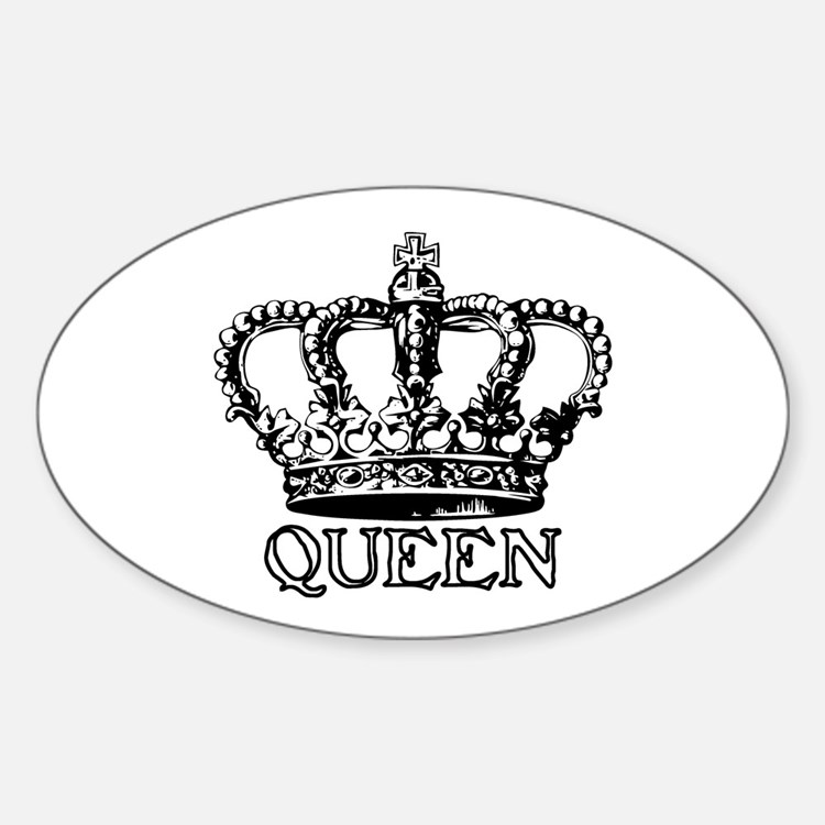 Queen Crown Oval Decal